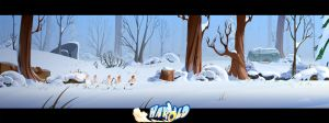 Background Dev for Harold (next gen video game) by cyrilcorallo