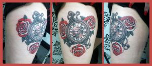 Pocket Watch and Red Roses (5) by Ashtonbkeje