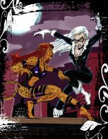 BLACK CAT vs CHEETAH by gagex07