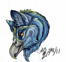 gryphon head colored by atrafeathers
