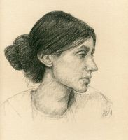 Young Virginia Woolf by LevonHackensaw