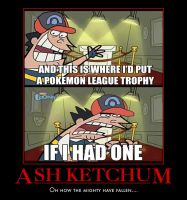 Ash Ketchum without a trophy by NoctusInfinity