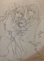 Inuyasha life after with Kagome and their child. by Snowcupid