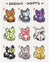 Doggie-Dopts -- { Batch 1 OPEN } by Hardrockangel-Adopts