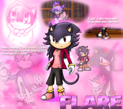 Flare the cat by parrishbroadnax
