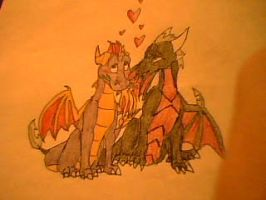 spyro x cynder by aacrell