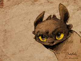 Toothless sketch by ISHAWEE