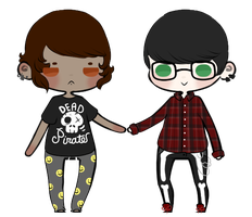 Too early to be a punk {CUSTOM COUPLE} by Cheese-Pizza
