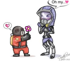 TF2-ME2- Masked Affections by Crystal124