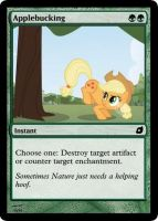 Applebucking - FiMtG by Kitonin