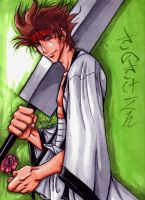 Sanosuke with sword by kheelan