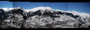 Alps panoramic by Akai-hana