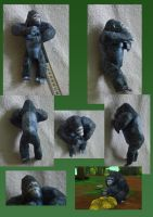 Zoo Tycoon Paper Collection - Mountain Gorilla by DrWheelieMobile