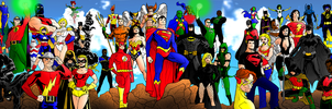DC Icons Legacy: Past, Present and Future by portfan