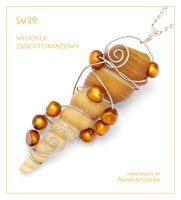 Golden Brown Pendant - W39 by AnnAntonina