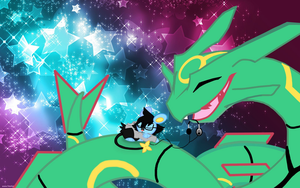 Rayquaza and Luxio by S-M-Batty