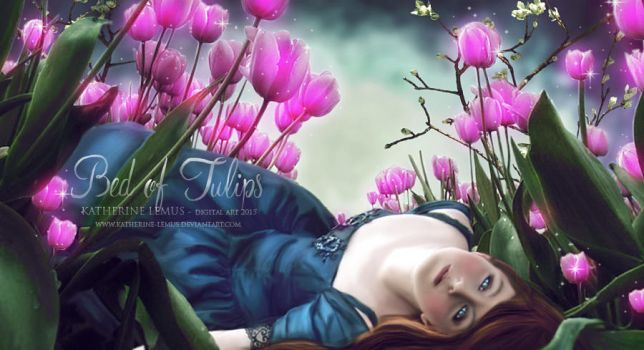 Bed of tulips by katherine-lemus
