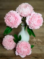 Clay peonies by dallia-art