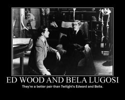 Ed Wood and Bela Lugosi 'They' by saki-senpai