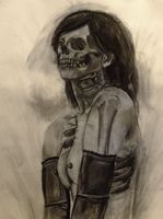 Skeletal Girl by amandathompson
