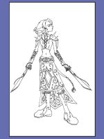 Elf girl- with SWORDS by Ice-222