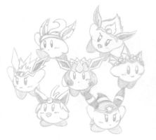 Eeveelution Kirbys by MathiasMeioh