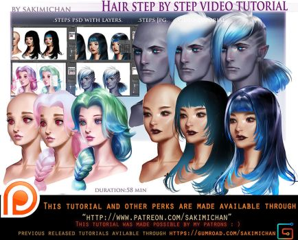Hair style step be step video tut pack .promo. by sakimichan