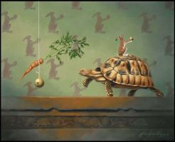 The Tortoise and the Hare by LindaRHerzog