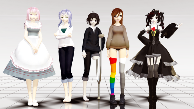 {MMD} Ma OCs and Their Derp Creator by DaCrepeArts
