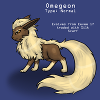 Omegeon fakemon eeveelution by The-Clockwork-Crow