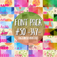 Font Pack #50 by ergohiki