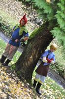 Groose and Strich: Hanging by a tree by KingLuke2222