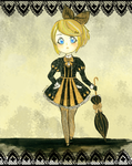 black and golden Rin by helplessdancer