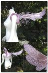 Rose Dove Wings by Lillyxandra