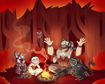 Commission - Group Fire by blinkpen