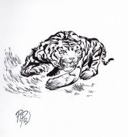 Natural creatures sketch 2 BW by innerpeace1979