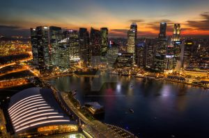 Singapore Cityscape by lonewolf565