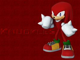 Knuckles the Echidna Wallpaper by SilverYoshi