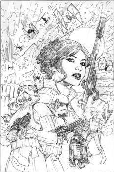Star Wars: Princess Leia #4 Cover Pencils by TerryDodson