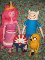 Needle Felted Adventure Time Group by CatsFeltLings