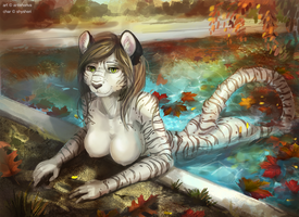 Warm autumn_completed ych by Antanariva
