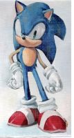 Sonic the Hedgehog - oil by Fargus