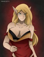 Blood Elf Mage Pin-up by Obhan