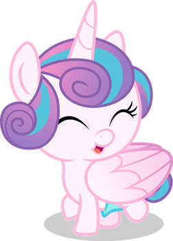 Mlp Fim Flurry Heart (smile) vector by luckreza8