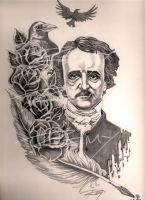 Edgar Allen Poe by Drawingremy
