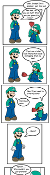 Plumber bummer by Nintendrawer