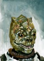 Bossk Star Wars Sketch Card by Stungeon