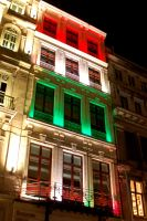 Flag Lights. Hungary. by johnwaymont