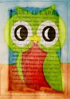 owl poster on Manuscript page by ArtByKostasTsipos