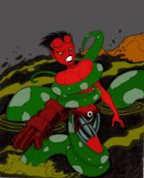 Jaal Hellgirl coloured version by Spatial